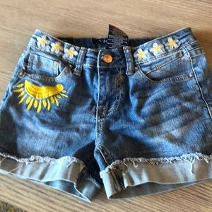 Girls jean denim shorts patches